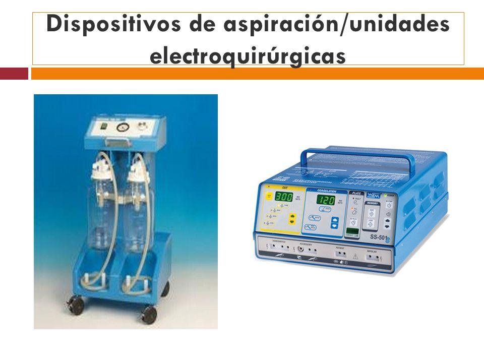 Dispositivos de aspiración/unidades electroquirúrgicas