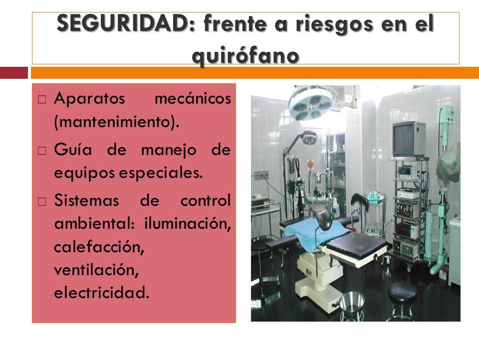 SEGURIDAD: frente a riesgos en el quirófano
