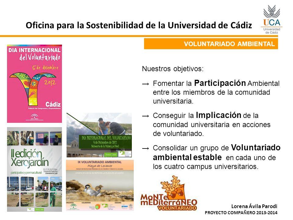 Oficina para la Sostenibilidad de la Universidad de Cádiz