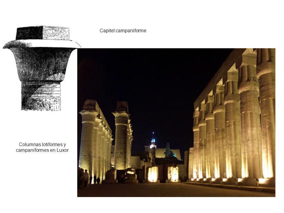 Columnas lotiformes y campaniformes en Luxor