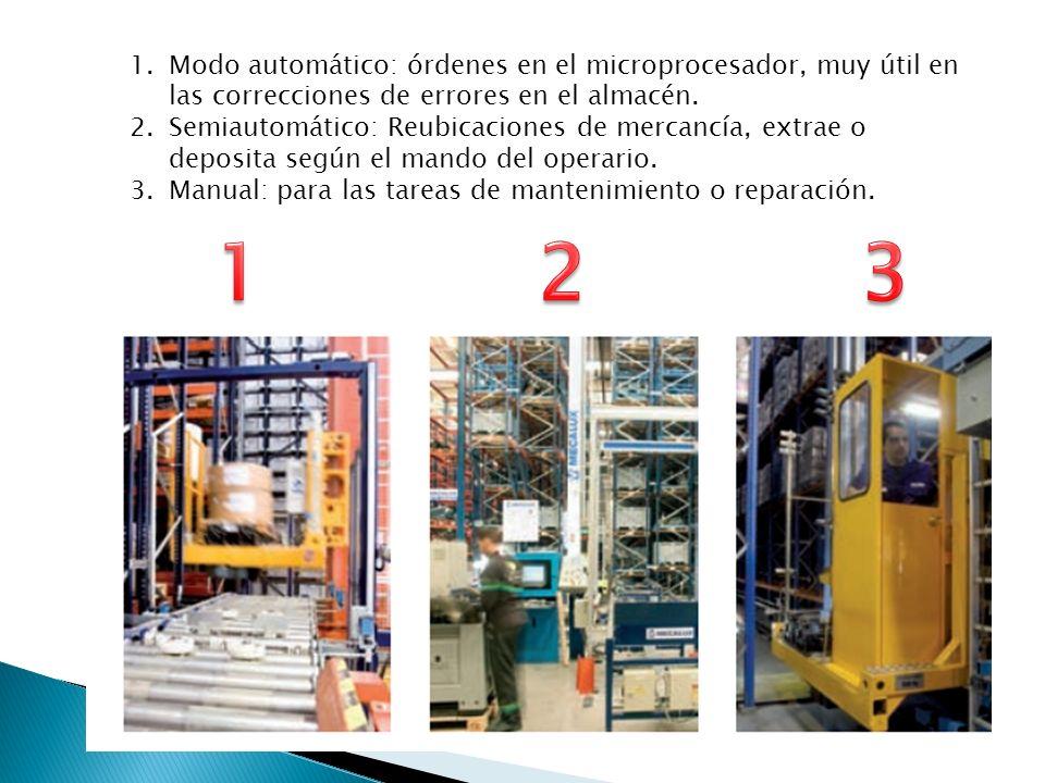 Modo automático: órdenes en el microprocesador, muy útil en las correcciones de errores en el almacén.