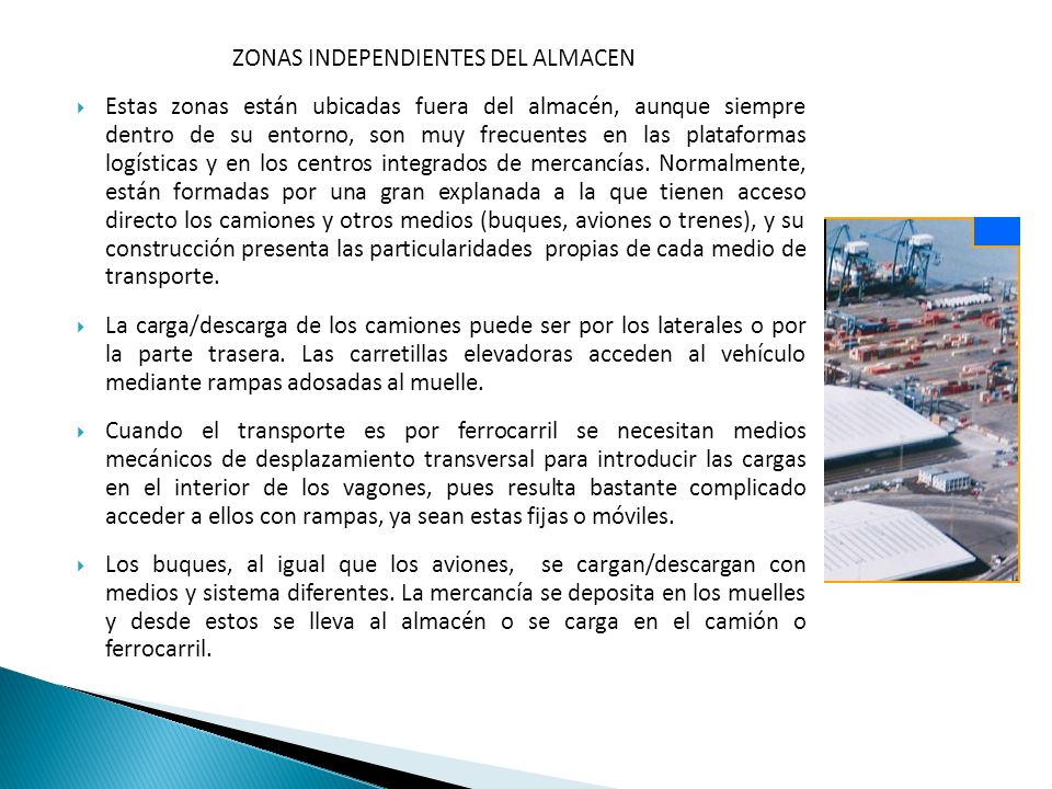 ZONAS INDEPENDIENTES DEL ALMACEN