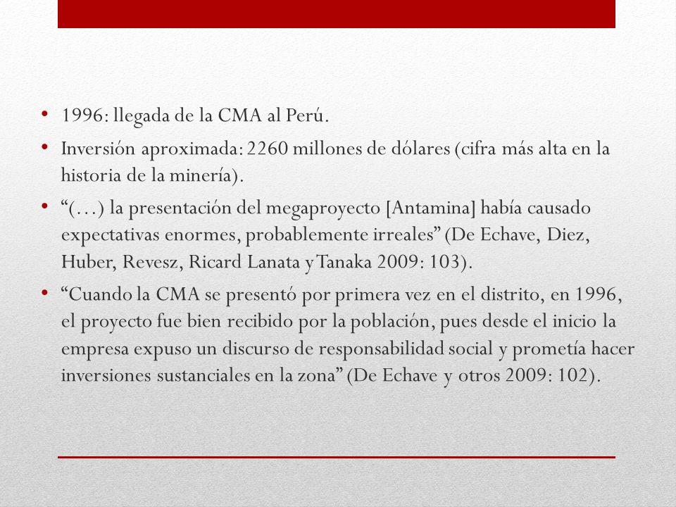 1996: llegada de la CMA al Perú.
