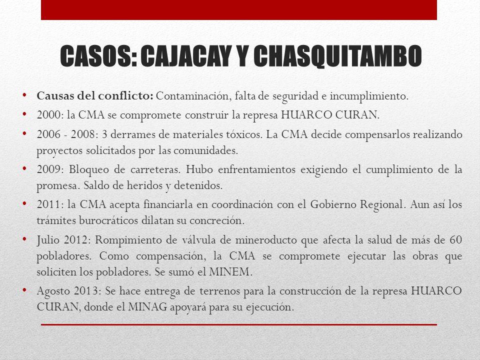 CASOS: CAJACAY Y CHASQUITAMBO