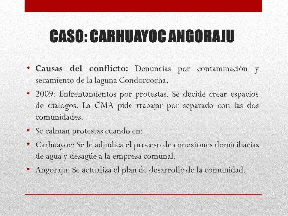 CASO: CARHUAYOC ANGORAJU