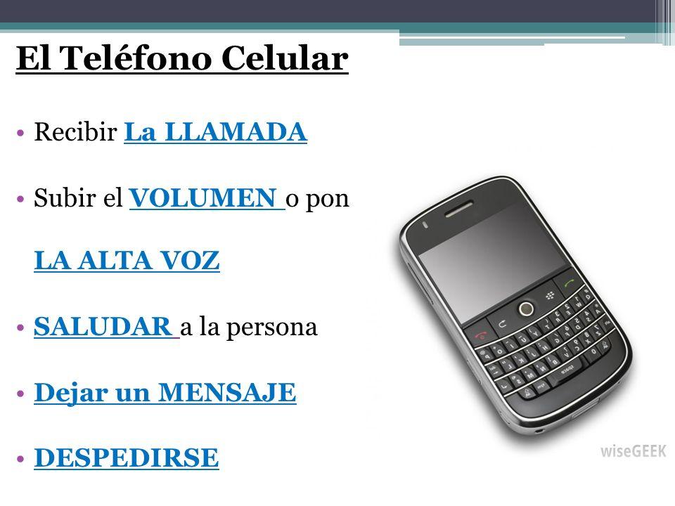 El Teléfono Celular Recibir La LLAMADA