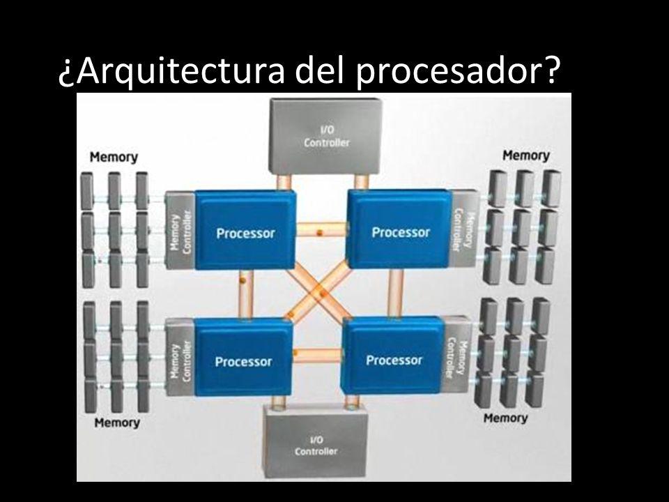 ¿Arquitectura del procesador