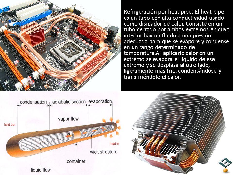 Refrigeración por heat pipe: El heat pipe es un tubo con alta conductividad usado como disipador de calor.