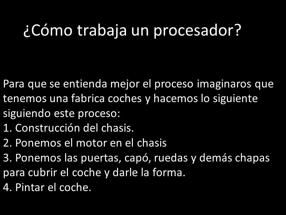 ¿Cómo trabaja un procesador
