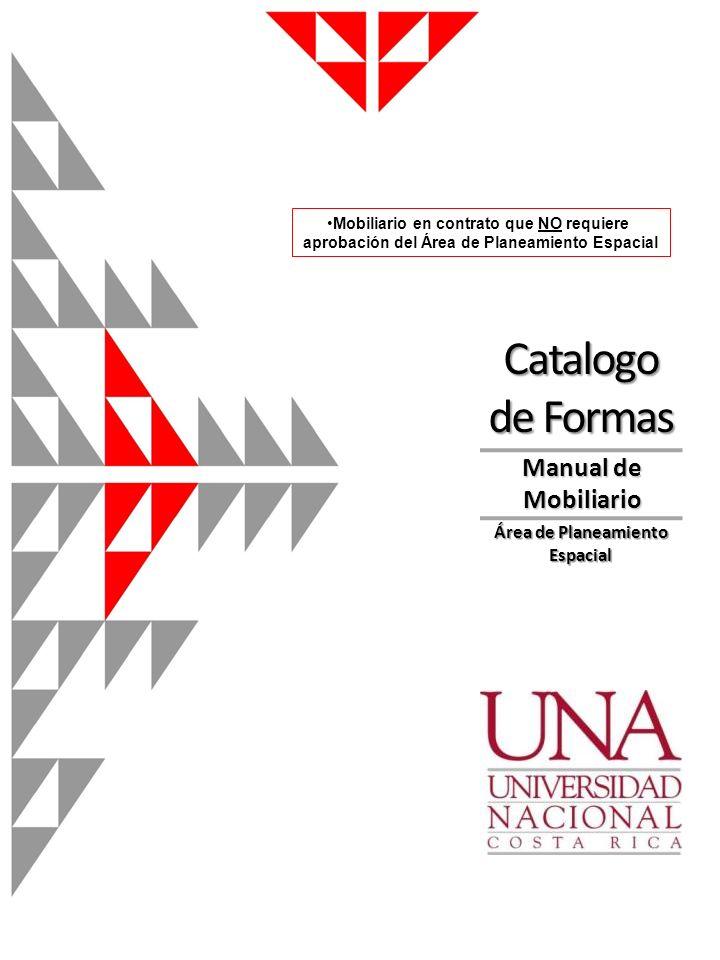 Catalogo de Formas Manual de Mobiliario Área de Planeamiento Espacial