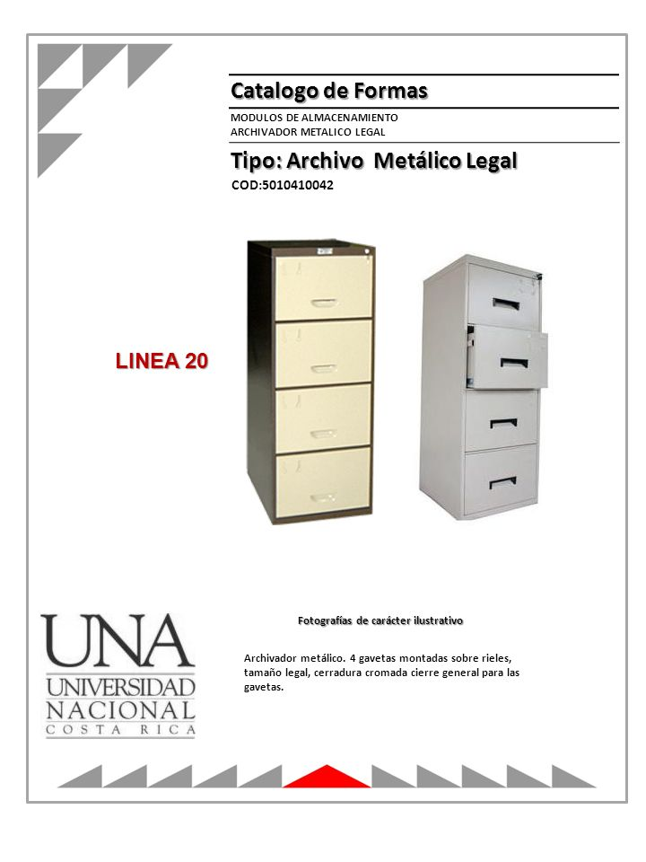Tipo: Archivo Metálico Legal