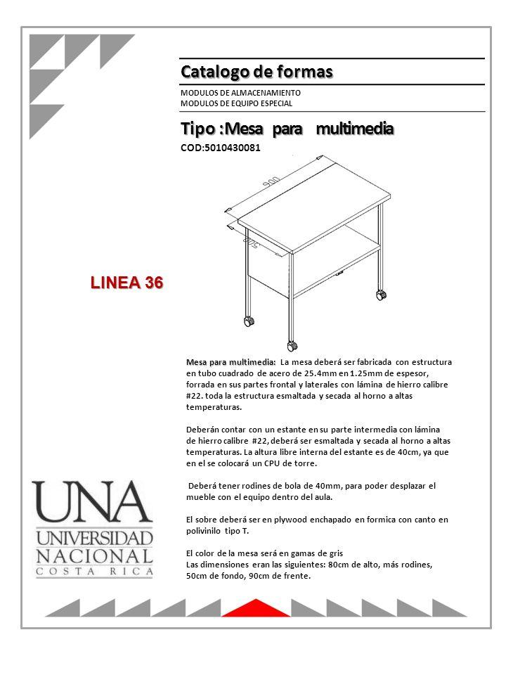 Tipo : Mesa para multimedia