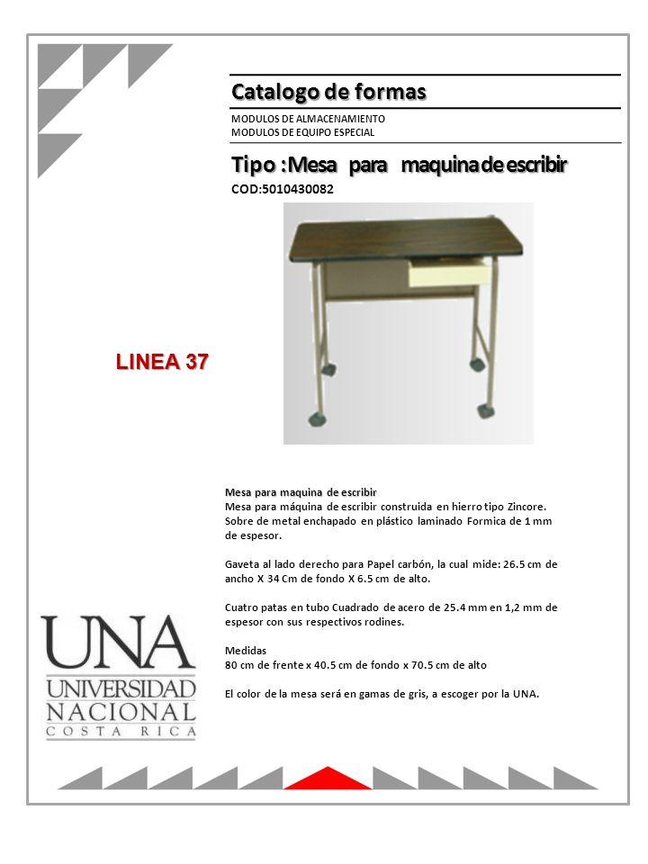Tipo : Mesa para maquina de escribir