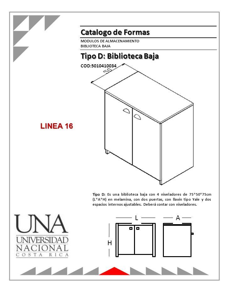 Tipo D: Biblioteca Baja