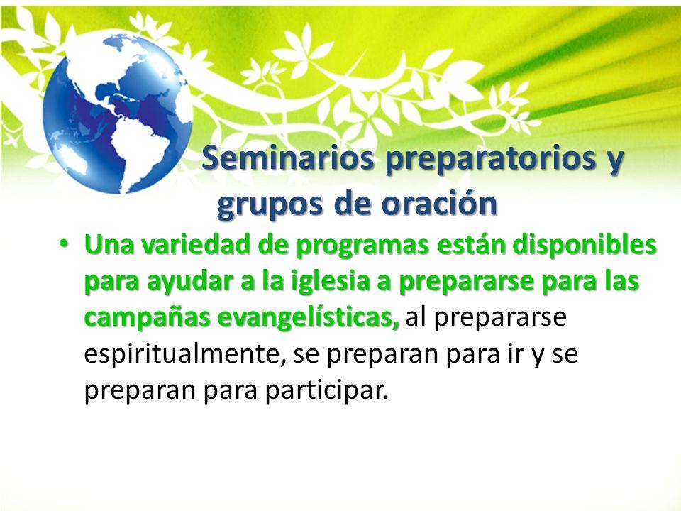 Seminarios preparatorios y grupos de oración