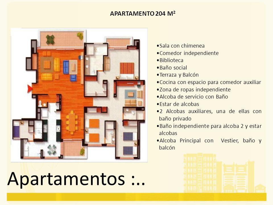 Apartamentos :.. APARTAMENTO 204 M2 Sala con chimenea