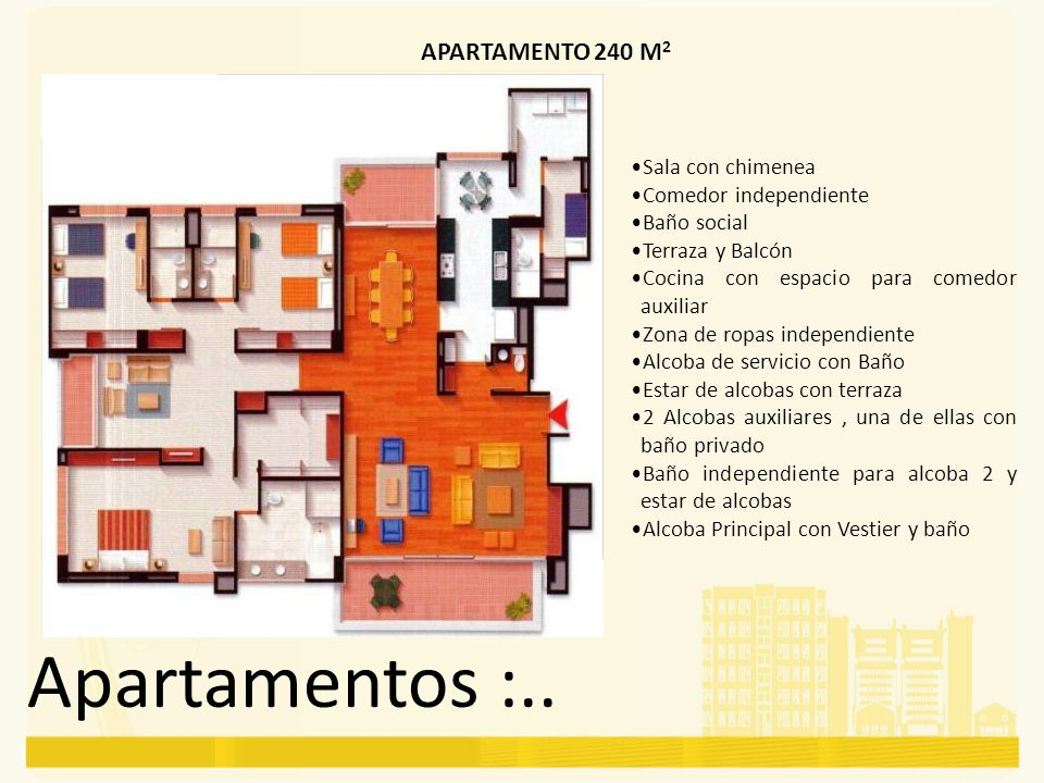 Apartamentos :.. APARTAMENTO 240 M2 Sala con chimenea