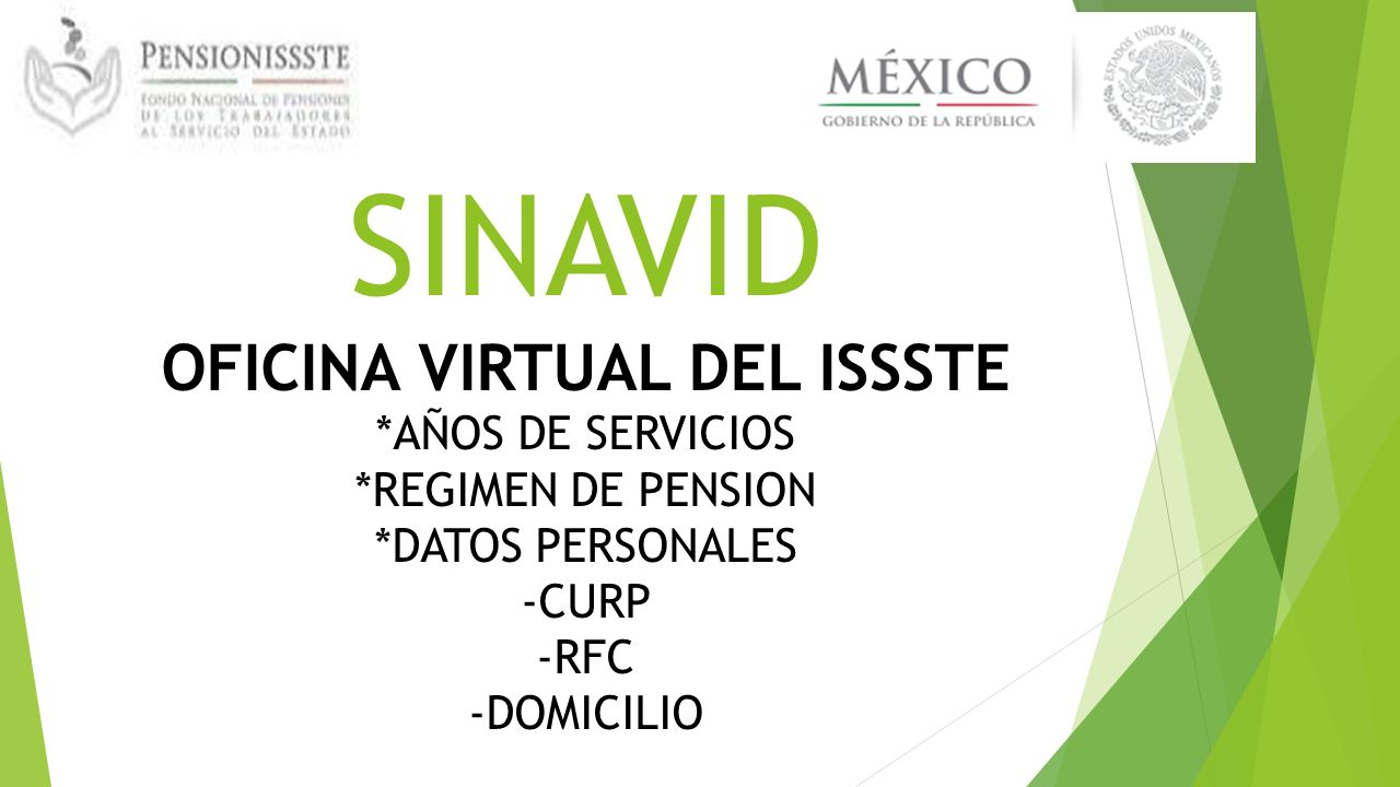 Pensionissste ppt video online descargar for Oficina virtual del