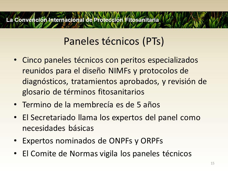 Paneles técnicos (PTs)
