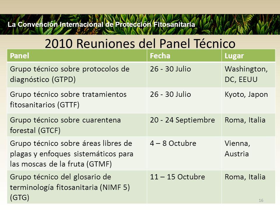 2010 Reuniones del Panel Técnico