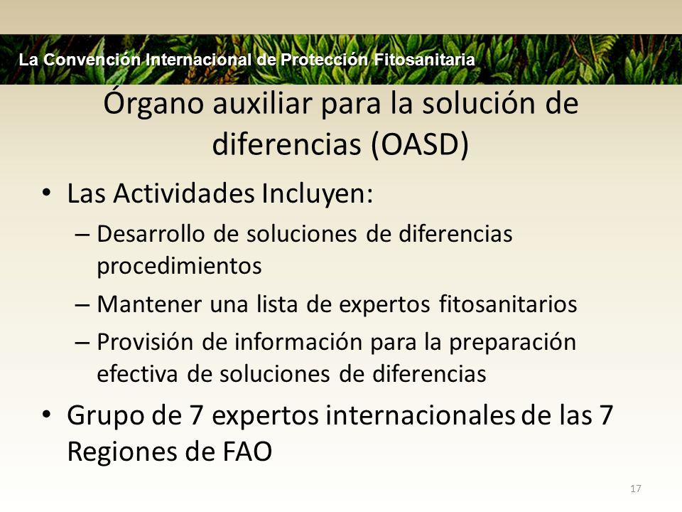 Órgano auxiliar para la solución de diferencias (OASD)