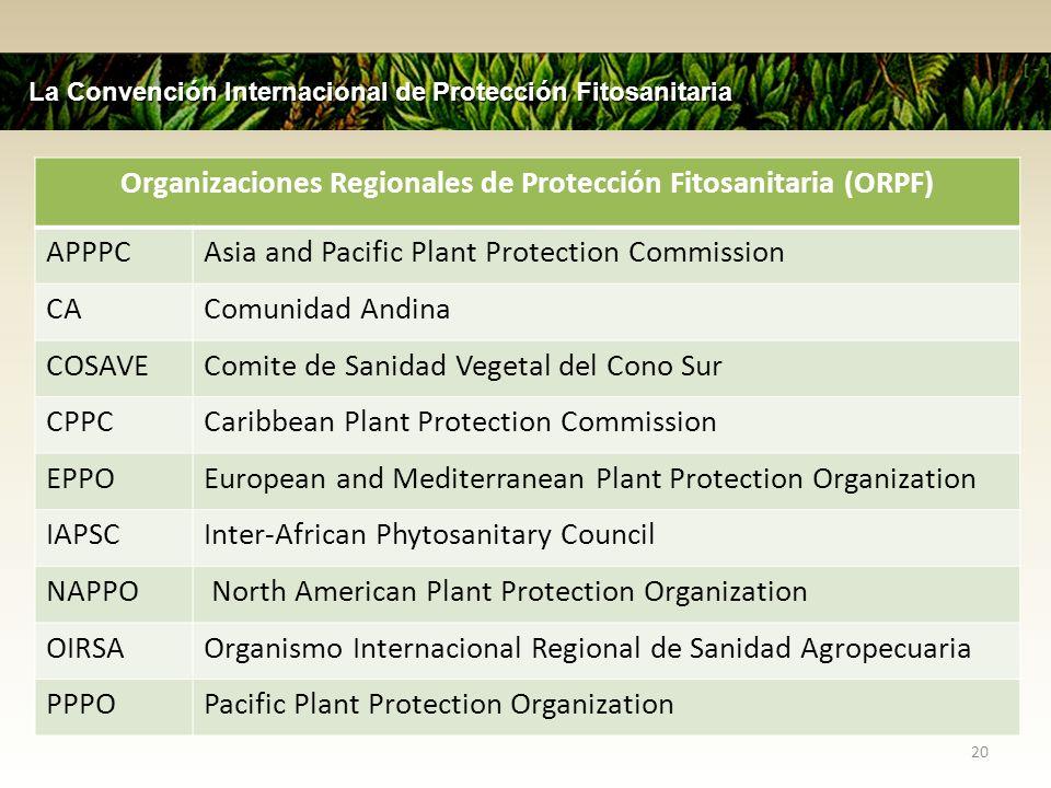 Organizaciones Regionales de Protección Fitosanitaria (ORPF)