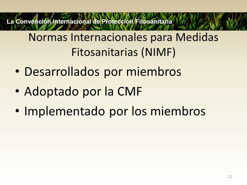 Normas Internacionales para Medidas Fitosanitarias (NIMF)