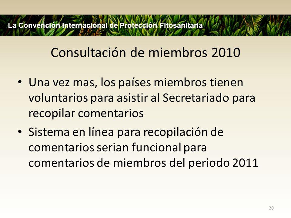 Consultación de miembros 2010