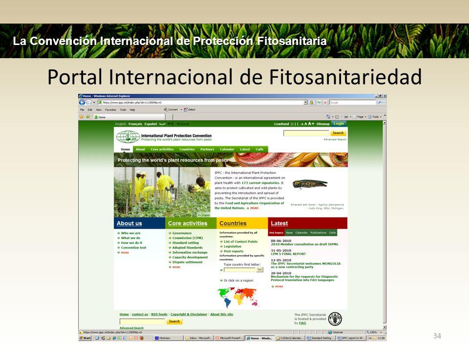 Portal Internacional de Fitosanitariedad