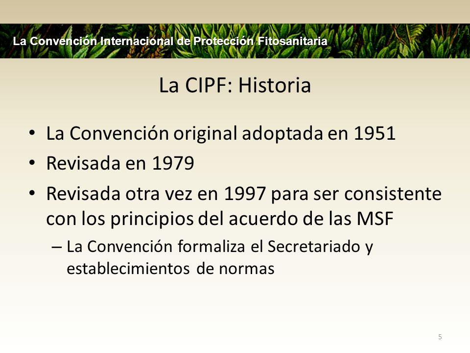 La CIPF: Historia La Convención original adoptada en 1951