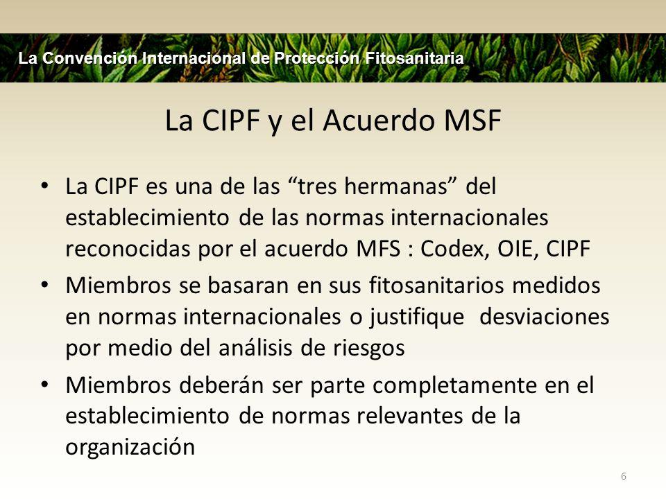La Convención Internacional de Protección Fitosanitaria