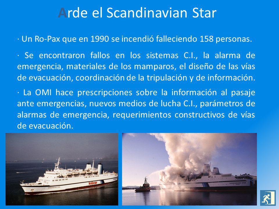 Arde el Scandinavian Star