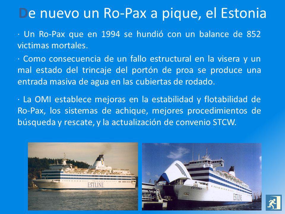 De nuevo un Ro-Pax a pique, el Estonia