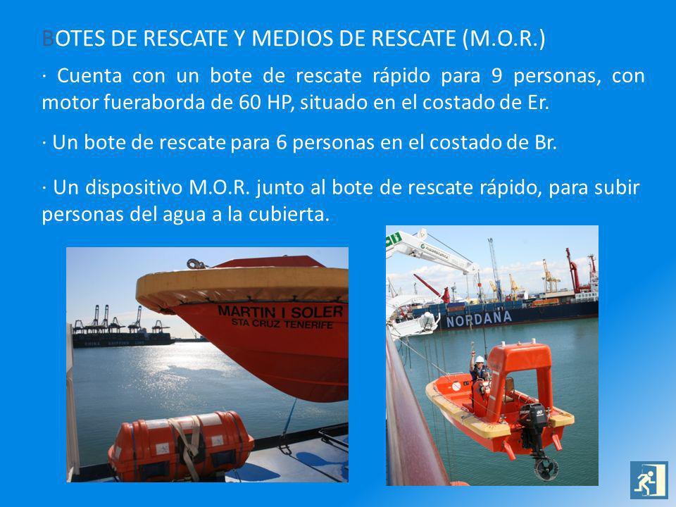 BOTES DE RESCATE Y MEDIOS DE RESCATE (M.O.R.)