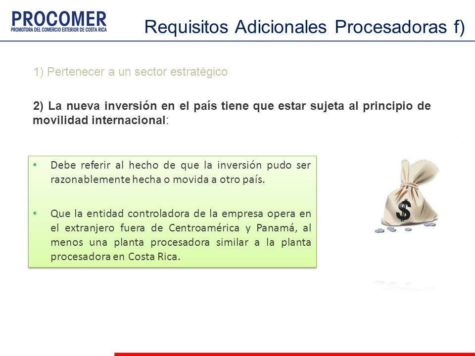 Requisitos Adicionales Procesadoras f)