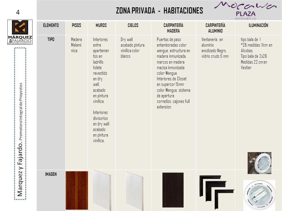 ZONA PRIVADA - HABITACIONES