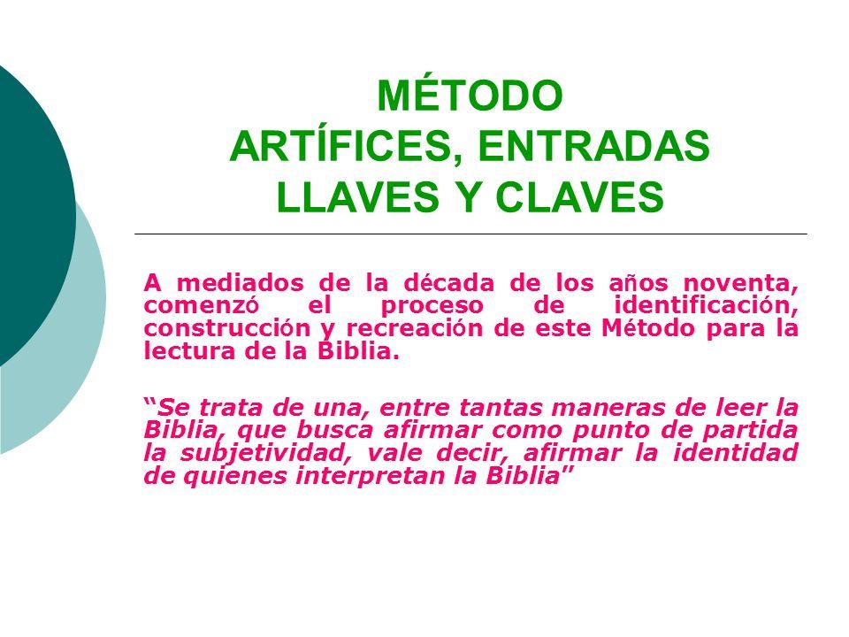 MÉTODO ARTÍFICES, ENTRADAS LLAVES Y CLAVES