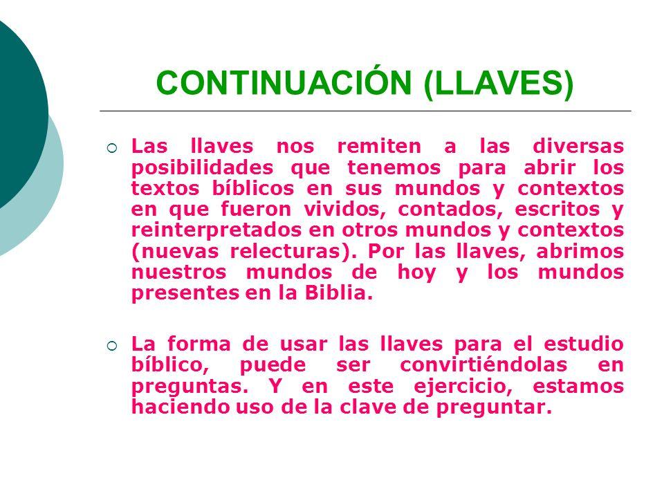 CONTINUACIÓN (LLAVES)