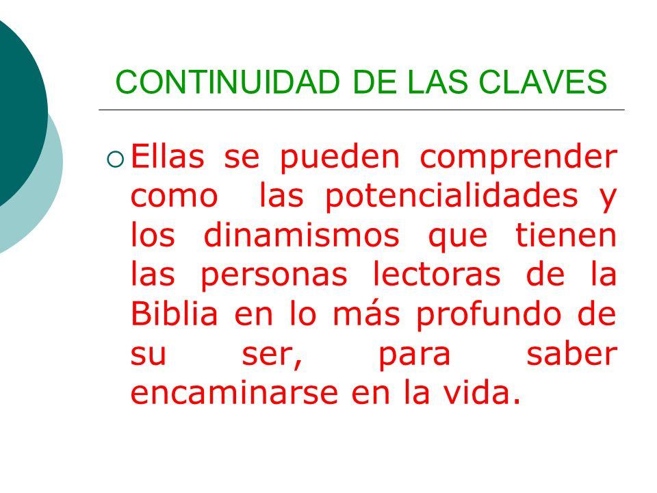 CONTINUIDAD DE LAS CLAVES