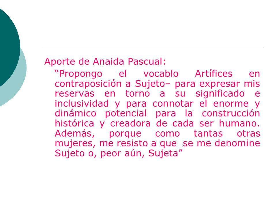 Aporte de Anaida Pascual: