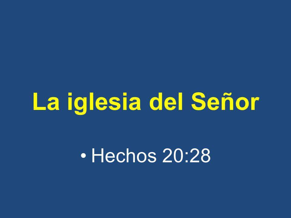 La iglesia del Señor Hechos 20:28