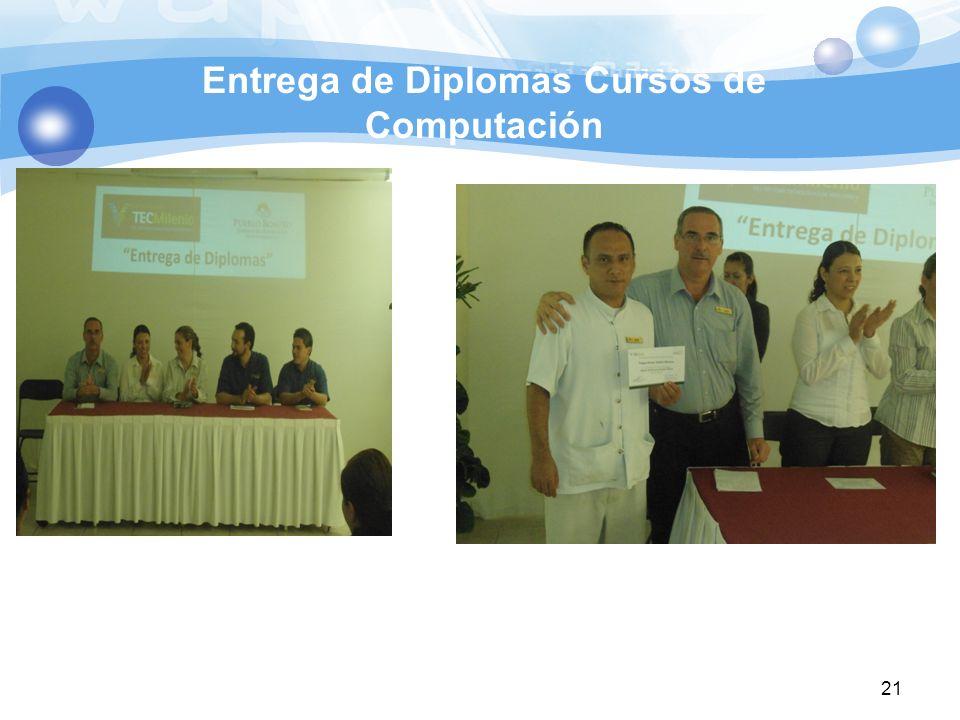 Entrega de Diplomas Cursos de Computación