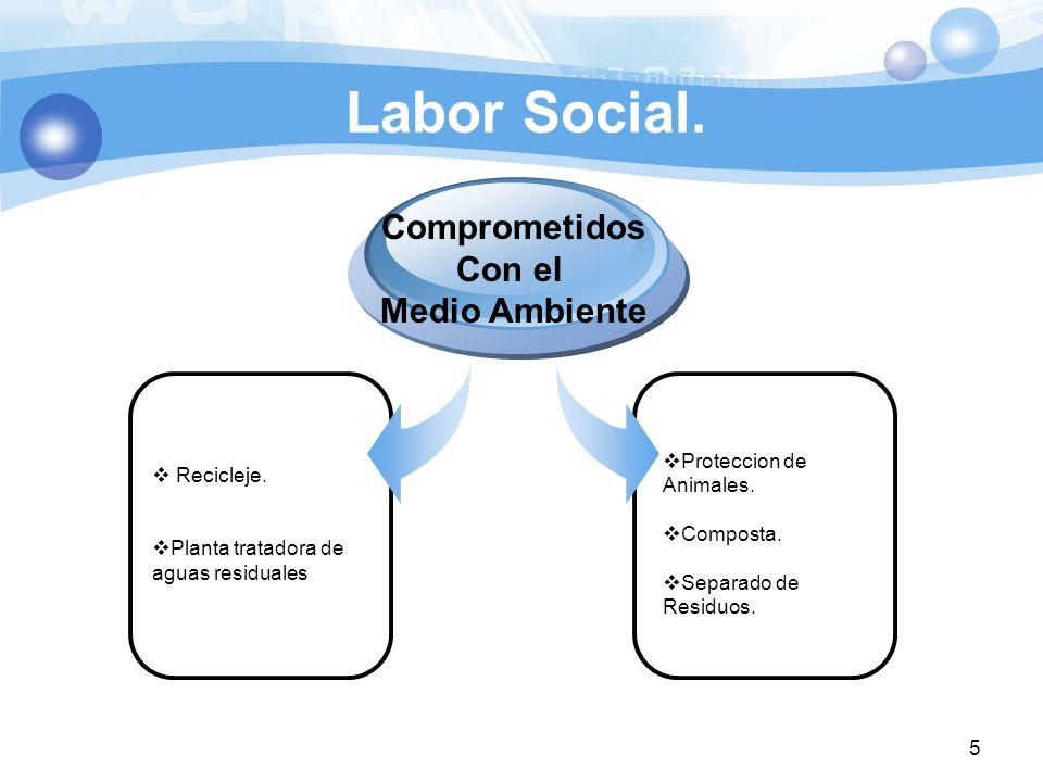 Labor Social. Comprometidos Con el Medio Ambiente Recicleje.
