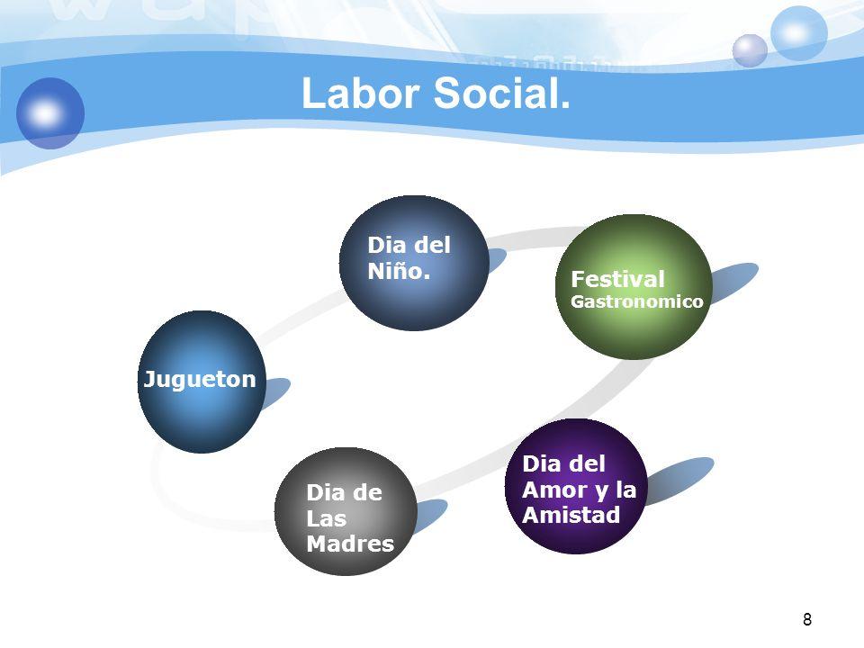 Labor Social. Dia del Niño. Festival Jugueton Amor y la Amistad Dia de