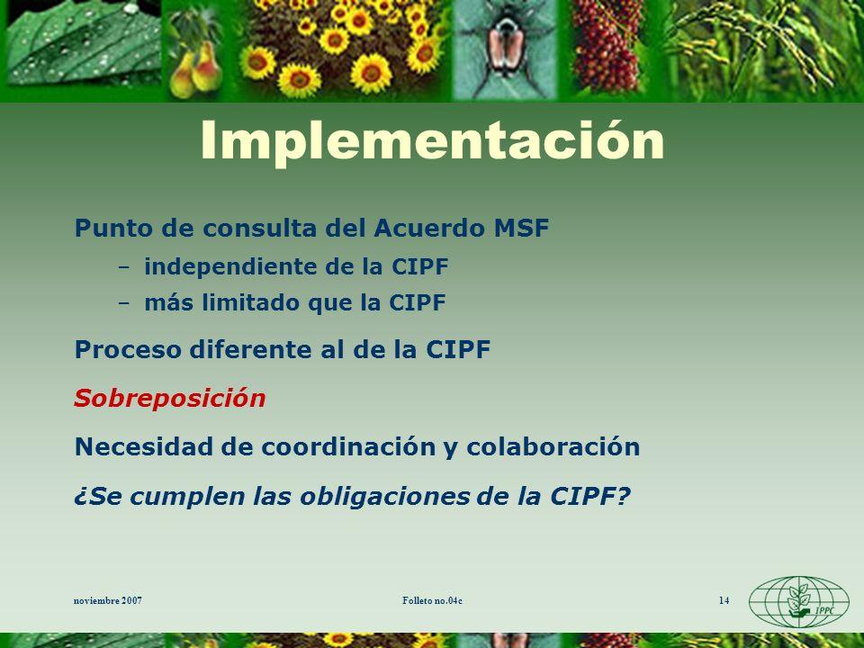 Implementación Punto de consulta del Acuerdo MSF