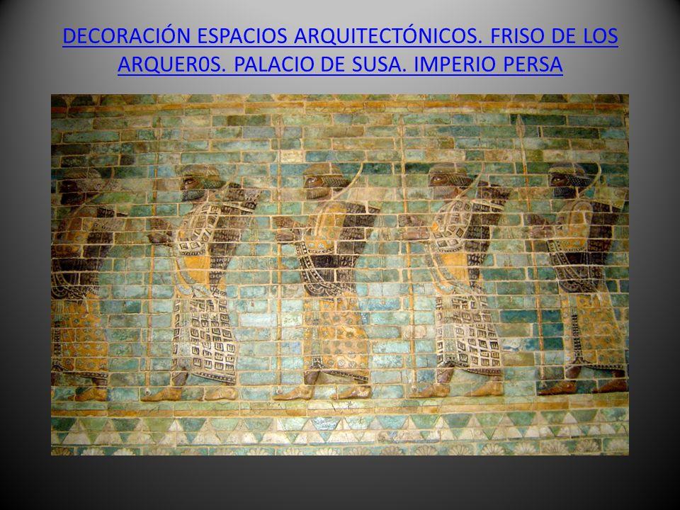 DECORACIÓN ESPACIOS ARQUITECTÓNICOS. FRISO DE LOS ARQUER0S