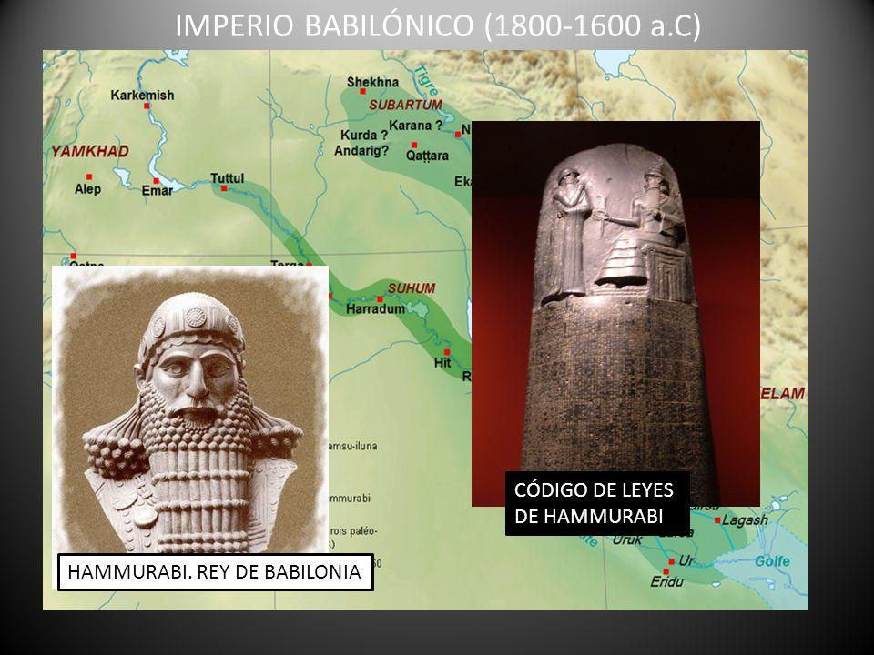 IMPERIO BABILÓNICO (1800-1600 a.C)
