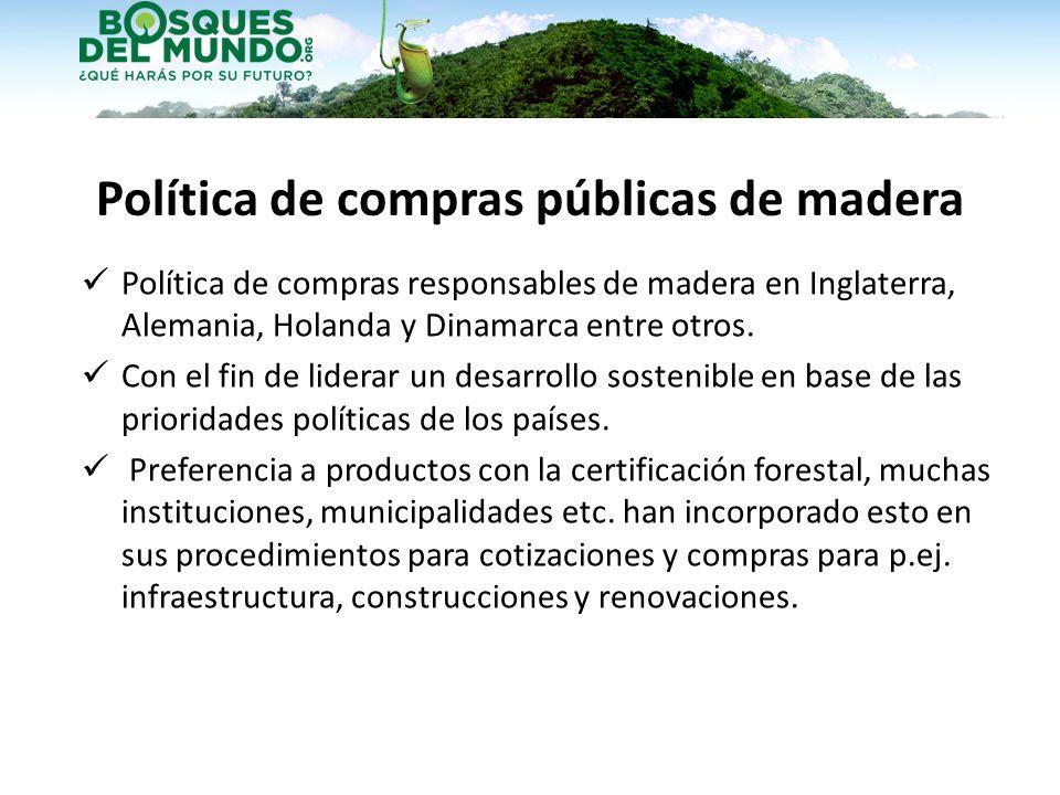 Política de compras públicas de madera