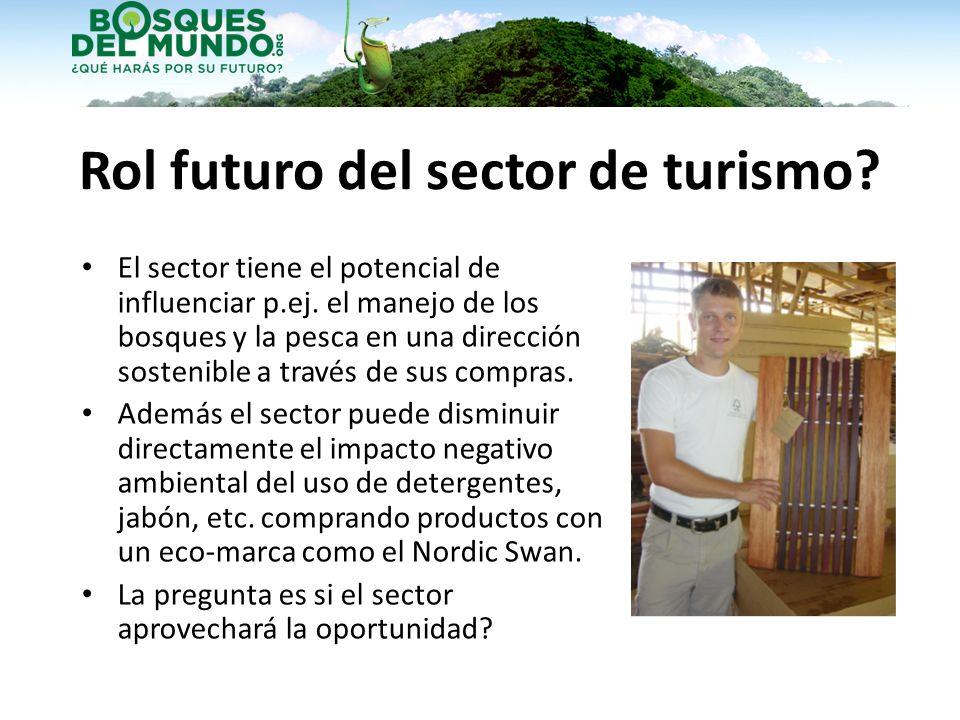 Rol futuro del sector de turismo