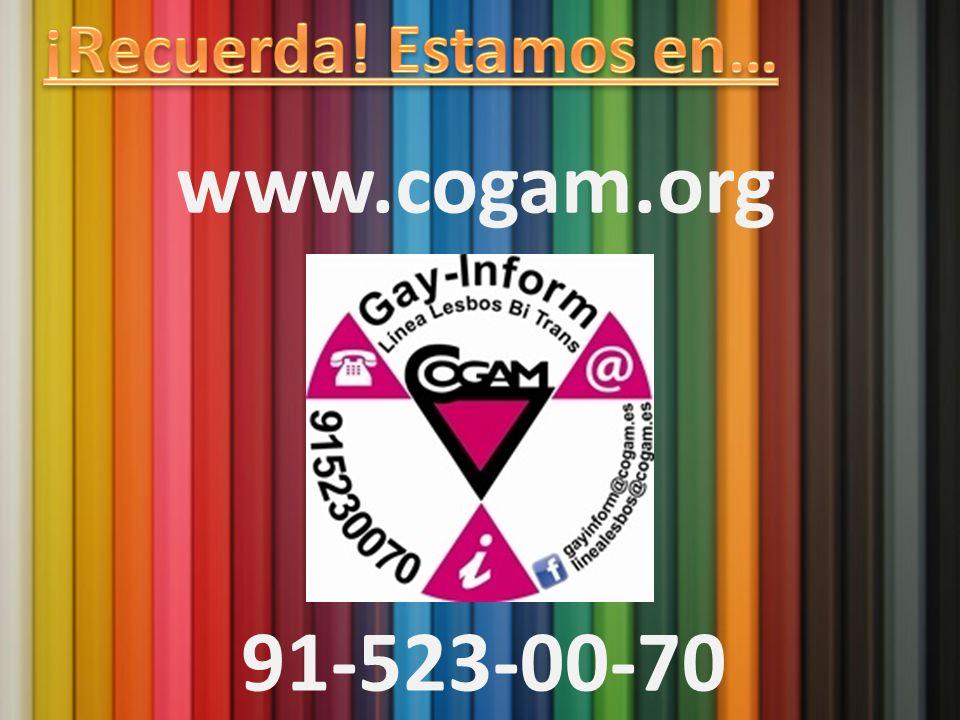 ¡Recuerda! Estamos en… www.cogam.org Contacto 91-523-00-70